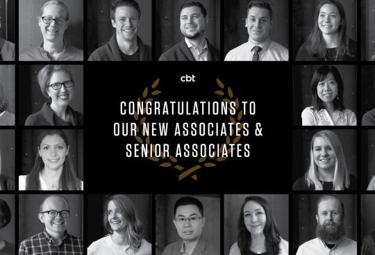 CBT Announces New Senior Associates and Associates